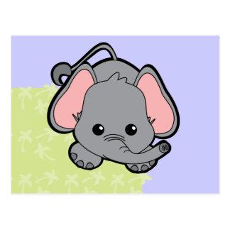 Elefante Cutie del bebé Postal