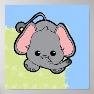 Elefante Cutie del bebé Póster