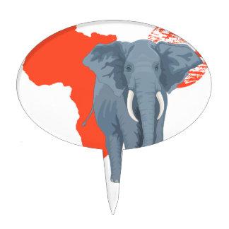 Elefante de África Figura Para Tarta