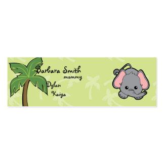 Elefante de Cutie Plantilla De Tarjeta De Visita