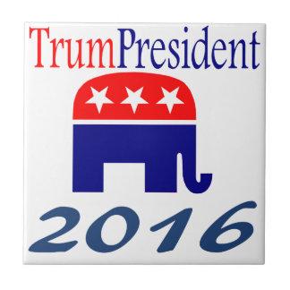 Elefante de Donald TrumPresident Azulejo Cuadrado Pequeño