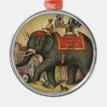 elefante de ejecución de antaño adorno