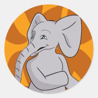 Elefante de Elias Etiqueta Redonda