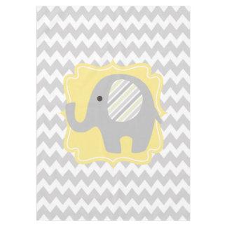 Elefante de encargo magnífico del neutral de la mantel de tela