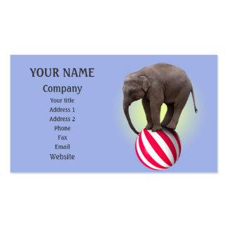 Elefante de equilibrio tarjetas de visita