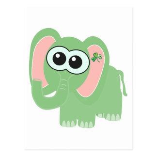 Elefante de Goofkins del día del St. Pattys Postal