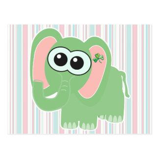 Elefante de Goofkins del día del St. Pattys Tarjeta Postal