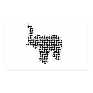 Elefante de Houndstooth Tarjetas De Visita