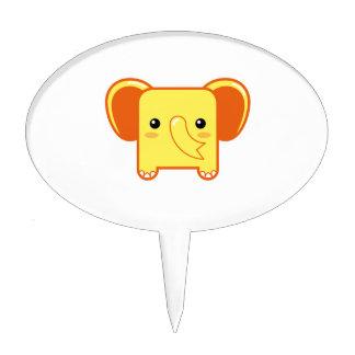 Elefante de Kawaii Figuras Para Tartas