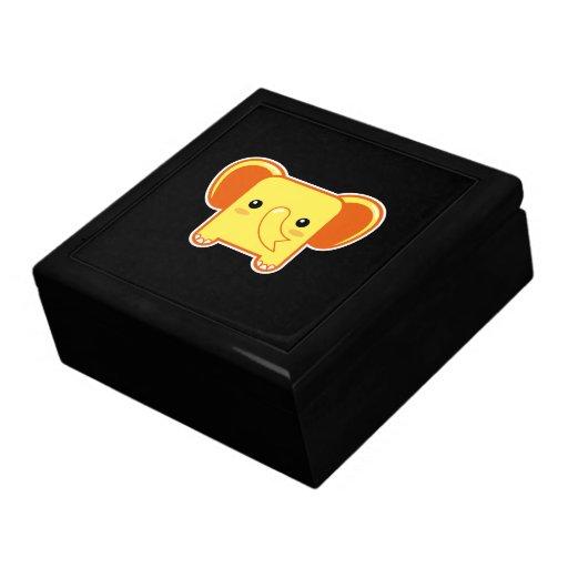 Elefante de Kawaii Cajas De Recuerdo