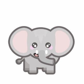 Elefante de Kawaii Fotoescultura Vertical