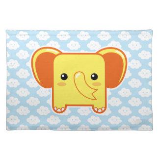 Elefante de Kawaii Mantel Individual