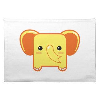 Elefante de Kawaii Manteles