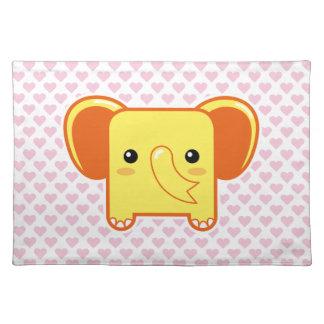 Elefante de Kawaii Manteles Individuales