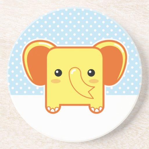 Elefante de Kawaii Posavasos Personalizados