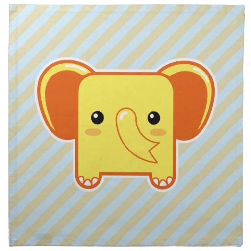 Elefante de Kawaii Servilleta De Papel