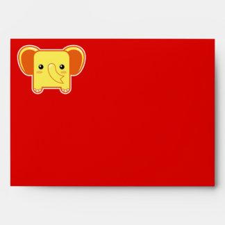Elefante de Kawaii Sobres