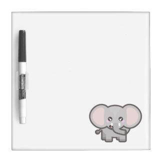 Elefante de Kawaii Tableros Blancos