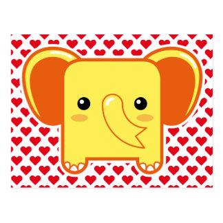 Elefante de Kawaii Tarjeta Postal