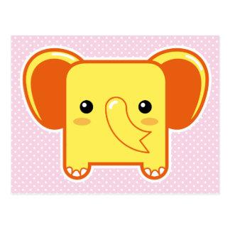 Elefante de Kawaii Tarjetas Postales