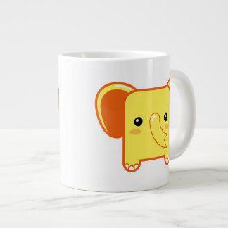 Elefante de Kawaii Tazas Extra Grande