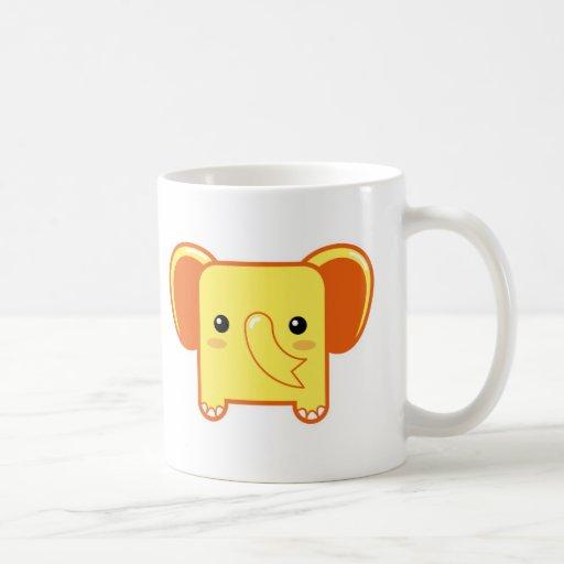 Elefante de Kawaii Taza De Café