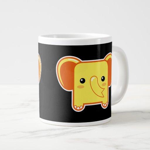 Elefante de Kawaii Tazas Jumbo