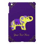 Elefante de la alheña (amarillo/púrpura) iPad mini funda