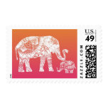 Elefante de la alheña estampillas