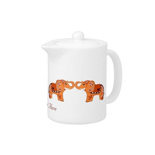 Elefante de la alheña (naranja/rojo)