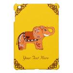 Elefante de la alheña (naranja/rojo) iPad mini protector