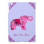 Elefante de la alheña (rosa/púrpura) iPad mini protector