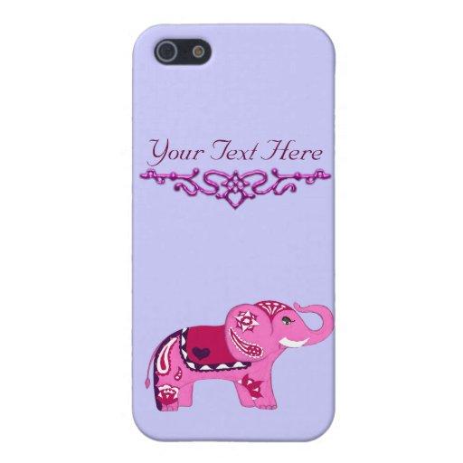 Elefante de la alheña (rosa/púrpura) iPhone 5 funda