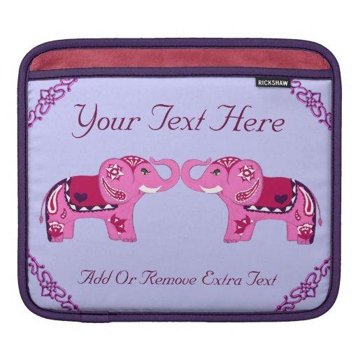 Elefante de la alheña (rosa/púrpura) funda para iPads
