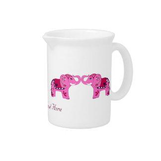 Elefante de la alheña (rosa/púrpura) jarras
