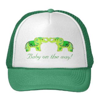 Elefante de la alheña (verde/verde lima) (fiesta d gorros