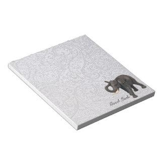 Elefante de la buena suerte libreta para notas