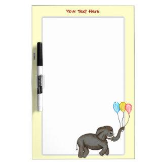Elefante de la celebración tablero blanco