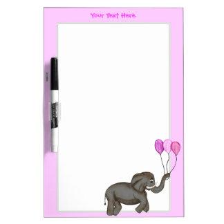 Elefante de la celebración (rosa) pizarra blanca