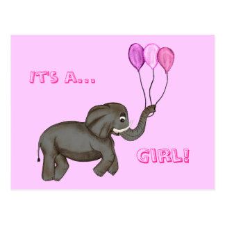 Elefante de la celebración rosa postal