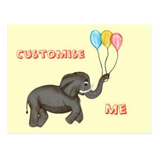 Elefante de la celebración postal