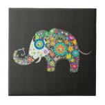 Elefante de la flor - pernos prisioneros del diama tejas