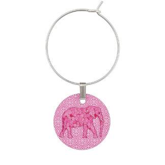 Elefante de la flor - rosa del fucsia identificador de copa