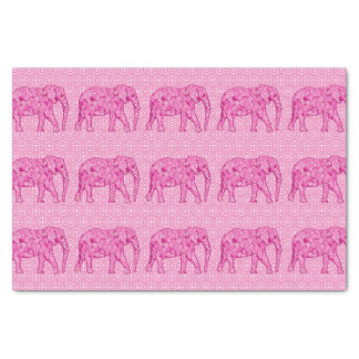 Elefante de la flor - rosa del fucsia papel de seda pequeño