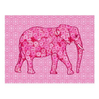 Elefante de la flor - rosa del fucsia