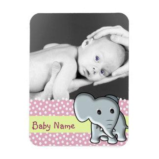 Elefante de la foto del bebé imanes rectangulares