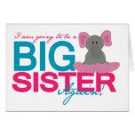 Elefante de la hermana grande otra vez tarjetas