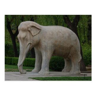 Elefante de la manera sagrada en la tumba de Mings Postales