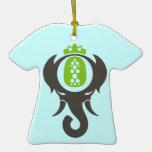 Elefante de la piña ornamentos de reyes magos