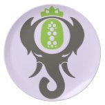 Elefante de la piña plato para fiesta